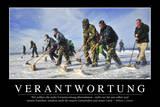 Verantwortung: Motivationsposter Mit Inspirierendem Zitat Photographic Print
