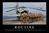 Routine: Motivationsposter Mit Inspirierendem Zitat Photographic Print
