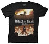 Attack On Titan - Keyart T-skjorte