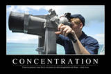 Concentration: Citation Et Affiche D'Inspiration Et Motivation Photographic Print