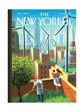 A Bright Future - The New Yorker Cover, May 19, 2014 Regular Giclee Print by Eric Drooker