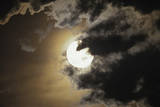 Full Moon in Clouds, Gleichen, Alberta, Canada Photographic Print
