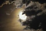 Full Moon in Clouds, Gleichen, Alberta, Canada Photographic Print