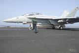 An F-A-18F Super Hornet Prepares to Launch Photographic Print