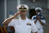 Commanding Officer Renders Honors During a Burial at Sea Photographic Print