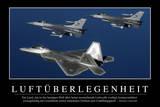 Luftherrschaft: Motivationsposter Mit Inspirierendem Zitat Photographic Print