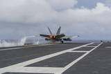 An F-A-18E Super Hornet Takes Off from the Flight Deck of USS George Washington Photographic Print