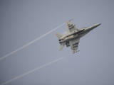 An F-A-18E Super Hornet in Flight over the Gulf of Oman Photographic Print