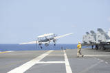 An E-2C Hawkeye Launches from the Flight Deck of USS Harry S. Truman Photographic Print