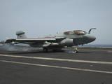 An Ea-6B Prowler Lands on the Flight Deck of USS Nimitz Photographic Print