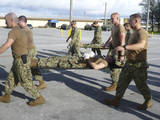 Seabees Practice First Aid Emergency Response and Litter Carrying Skills Photographic Print