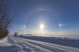 Solar Halo and Sundogs in Southern Alberta, Canada Photographic Print