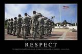 Respect: Citation Et Affiche D'Inspiration Et Motivation Stampa fotografica