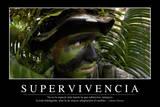 Supervivencia. Cita Inspiradora Y Póster Motivacional Photographic Print