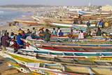 Kayar Fishing Harbour, the Biggest Fishing Harbour in Senegal, Senegal, West Africa, Africa Fotografisk tryk af Bruno Morandi