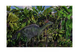 A Lone Olorotitan Duckbilled Dinosaur Prints