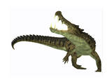 Kaprosuchus Is an Extinct Genus of Crocodile Art Print