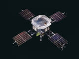 The Mariner 5 Spacecraft Against a Black Background Photographic Print