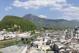 High Angle View from Monchsberg Mountain over the Old Town of Salzburg Photographic Print by Markus Lange