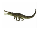 Kaprosuchus Is an Extinct Genus of Crocodile Wall Art