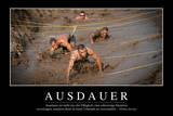 Ausdauer: Motivationsposter Mit Inspirierendem Zitat Photographic Print
