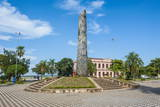 Obelisk in Front of the Pink Cabildo Photographic Print by Michael Runkel