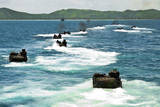 Amphibious Assault Vehicles Approach Hat Yao Beach, Thailand Photographic Print