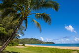 Bay of Hanalai on the Island of Kauai, Hawaii, United States of America, Pacific Fotografisk trykk av Michael Runkel