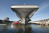 Uss Theodore Roosevelt Pulls Out of Newport News Shipyard Photographic Print