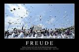Freude: Motivationsposter Mit Inspirierendem Zitat Photographic Print