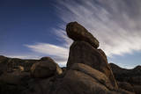 Large Boulders Backdropped by Stars and Clouds, California Photographic Print