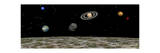 View of the Universe and Planets as Seen from a Distant Moon Posters