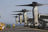 Mv-22 Ospreys Sit Ready for Launch on the Flight Deck of USS Kearsarge Photographic Print