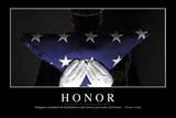 Honor. Cita Inspiradora Y Póster Motivacional Photographic Print