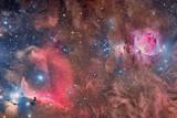 Widefield View of Orion Nebula and Horsehead Nebula Lámina fotográfica