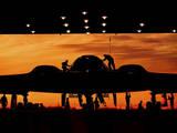 Service Members Undergo Maintenance on a B-2 Spirit Photographic Print