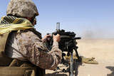 Soldier Fires the Mk. 19 Grenade Launcher Photographic Print