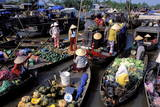 Floating Market of Cai Rang, Can Tho, Mekong Delta, Vietnam, Indochina, Southeast Asia, Asia Papier Photo par Bruno Morandi