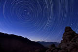 Star Trails from a Vista in Anza Borrego Desert State Park, California Photographic Print