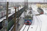 Railway Station on the Trans-Siberian Line, Balezino, Udmurtia, Russia, Europe Photographie par Bruno Morandi
