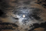 Full Moon in Clouds Photographic Print