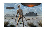 China Lake Military Base Where Aliens and Humans Work Together Prints