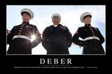 Deber. Cita Inspiradora Y Póster Motivacional Photographic Print