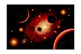 A Red Giant Star System Prints