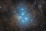The Pleiades, an Open Star Cluster in the Constellation of Taurus Papier Photo