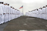 Sailors Prepare to Man the Rails on the Flight Deck of USS Harry S. Truman Photographic Print