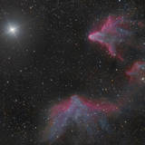 Ic 59 and IC 63 in Cassiopeia Photographic Print