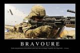 Bravoure: Citation Et Affiche D'Inspiration Et Motivation Lámina fotográfica