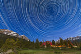 Circumpolar Star Trails over Banff National Park, Alberta, Canada Photographic Print