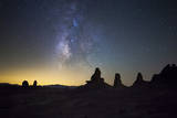 The Milky Way over Trona Pinnacles. Trona, California Photographic Print